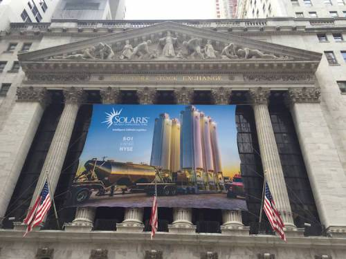 Banner at the NYSE on IPO day